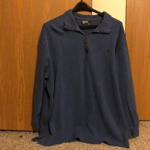 Quarter Zip knit sweater